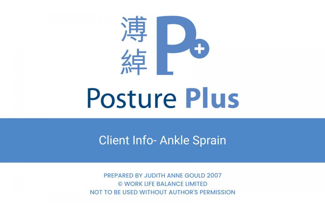 Client Info- Rehabilitation following Ankle Sprain