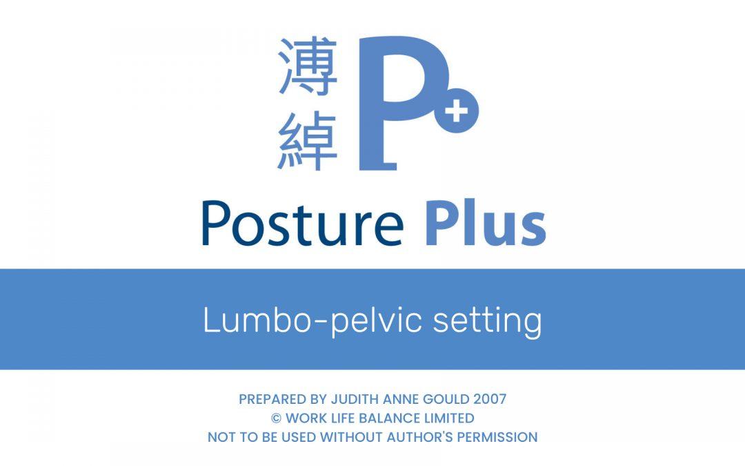 Lumbo-pelvic setting