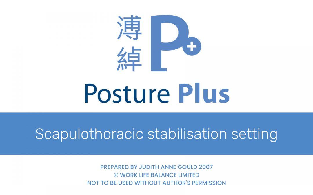 Scapulo-thoracic stabilisation setting