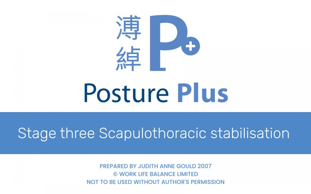 Stage three Scapulo-thoracic stabilisation