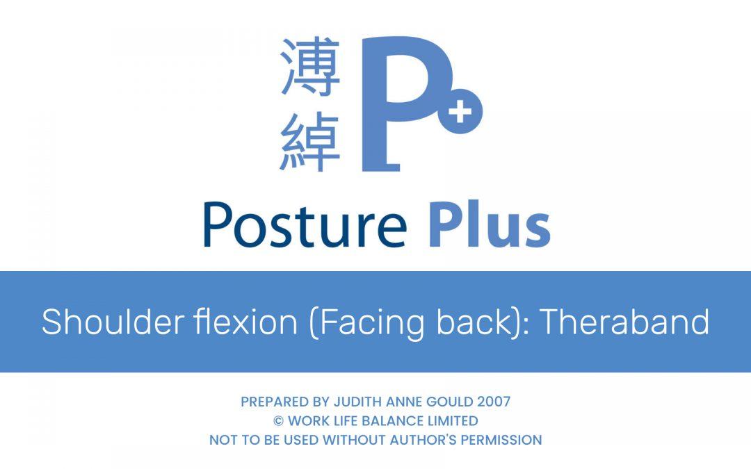 Shoulder flexion (Facing back)